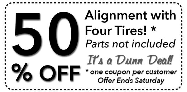Dunn tire coupons